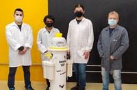Equipamento faz sucção de aerossóis em ambientes com pessoas